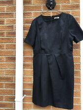 Whistles Black Sparkly Short Sleeve Dress Size 16