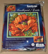 "Janlynn / Nancy Rossi ""Poppies Stained Glass"" Needlepoint Kit NIP"