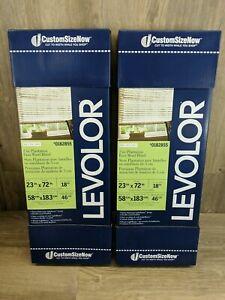 "Set of Two Levolor Plantation Faux Wood Blind 2"" Slat White 23"" x 72"" (#158)"