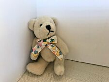 """Annette Funicello 5.5"""" Jointed Bear ~ Beige with Scarf"""