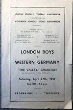 More details for london boys v western germany 1956/57