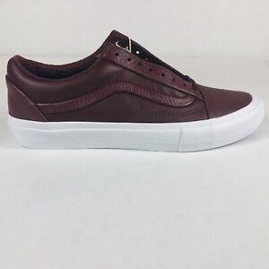 VANS Old Skool Leather Stitch & Turn Andorra Brown & White Sneakers Men Size 9.5
