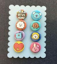 BT21 BTS Character Pins Badge Koya RJ Shooky Mang Chimmy Tata Cooky Fan Buttons