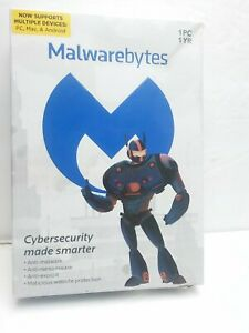 Malwarebytes 1 Year 1 PC Cyber security software.  P