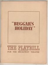 "Zero Mostel & Alfred Drake  ""Beggar's Holiday""  Playbill  1947  Duke Ellington"