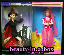 I Dream of Jeannie Barbie Doll Bewitched Samantha Lot 2 Barbara Eden NRFB Pop ""