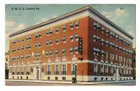 1946 YMCA Building Easton PA Pennsylvania Street View Linen Postcard