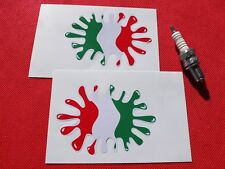 Pair of italien splat Italy flag stickers