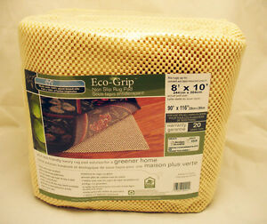 Eco Environmentally Friendly Cushioned Rug Pad Underlay for Hardwood Floors 8x10