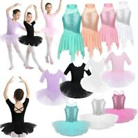 Girl Ballet Dance Dress Sequin Leotard Tutu Skirt Gymnastics Ballerina Dancewear