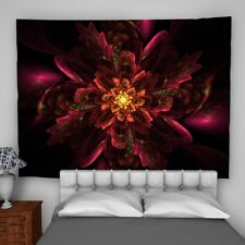 Floral Fractal Wall Hanging Tapestry Psychedelic Bedroom Home Decoration