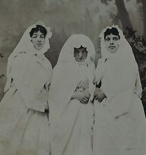 RARE Tintype Photo - Group of Nuns? Theater? Women in Costumes ca 1870s
