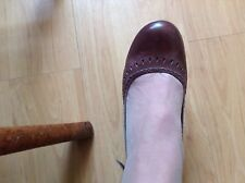 IMMACULATE PAIR LADIES BROWN SLING BACK MARY JANE SHOES by JONES the BOOTMAKER 6