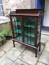 Edwardian mahogany glass fronted display cabinet