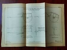 1885 Sketch Diagram US Military Artillery Cart for distributing Small Arms
