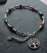 Tree of Life Charm Anklet Chakra Beads Anklet Ankle Bracelet Festival Boho Hippy