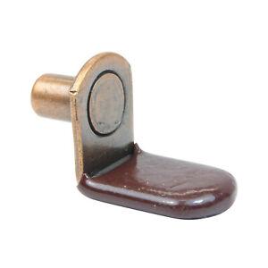 "25 Pack 1/4"" L-Shaped Glass Support Furniture Cabinet Closet Shelf Bracket Pegs"