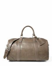 New Polo Ralph Lauren Men's Duffle Leather Bag Gray