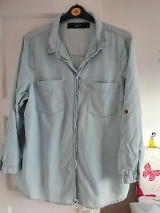 Womens Blue Denim Shirt Size 24