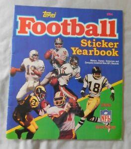 1985 Topps Football Sticker YearBook unused