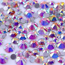 300Pcs Chameleon Nail Rhinestones Opal  Flatback Multi-size 3D Decoration