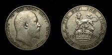 Great Britain 1905 One Shilling King Edward VII Low Mintage Key Date VF+ 4992