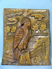 """""""Steinadler"""" alte große Handgeschnitzte massiv Holz Relief Wand-Platte um 1950"""