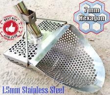 HEXAHEDRON -7 Beach Sand Scoop Metal Detector Hunting Tool 1.5mm Stainless Steel