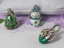 BRIGHTON SET OF 3 CHRISTMAS CHARMS  THEY ALL OPEN   TREE,CANDY CANE AND SNOWMAN