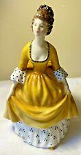 Vintage Royal Doulton Figurine Coralie 1963 Hn 2307 England Woman Yellow Dress
