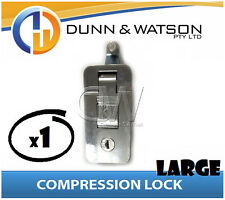 Large Chrome Compression Lock / Handle / Latch (Pop Omega Trailer Canopy ) x1