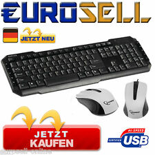 KÖNIG TASTATUR + MAUS SET USB MOUSE KEYBOARD SCHWARZ DESKSET PC GAMER GAMING NEU