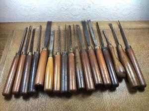 Set Of Antique Wood Chisels / Gauges