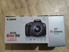 Canon EOS Rebel T6 18MP Digital Camera with 18-55mm and 75-300mm Lenses Kit[DSLR