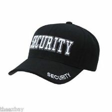 Black SECURITY Embroidered  Adjustable Cap Baseball Hat