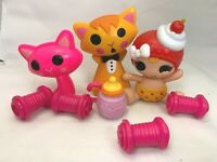 Rare LalaLoopsy Newborn I'm Sweet And Tart Cherry Pie Doll Baby Bottle W/ Cats L