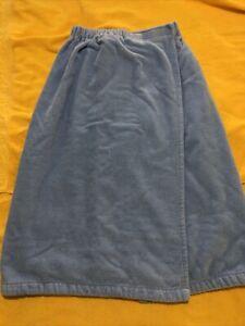 Self Spa Shower Bath Towel Wrap Blue Super Soft Drape One Size Adjustable
