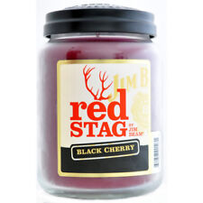 RED STAG BLACK CHERRY JIM BEAM 26 oz Scented Jar Candle by Candleberry 160 hours