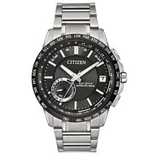 Citizen Men's Satellite Wave Stainless Steel Black Dial Analog Watch CC3005-85E