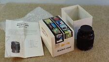 *1970's* Mamiya Sekor Camera Macro Lens #144982 60mm F:2.8w/original box Japan