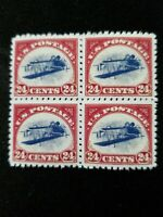 "US Stamps #C3a 1918 ""Inverted Jenny"" Block Replica Reproduction Copy"