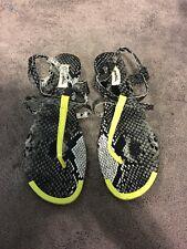 Aeropostale gray black syn leather snake skin Sandals size 10