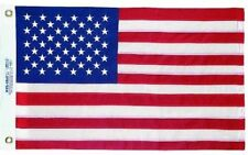 "AMERICAN US BOAT FLAG 20"" x 30"" Sewn Embroidered Stars Sewn Stripes  MADE IN USA"