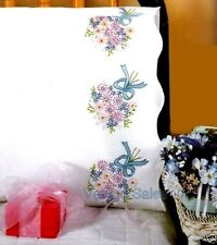 """Tobin Stamped Embroidery Kit 20"""" x 30"""" Pillowcase ~ BOUQUETS #232014 Sale"""