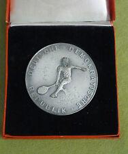 DDR Medaille - 3. zentrales Fachschulsportfest - 1956 - silberfarben