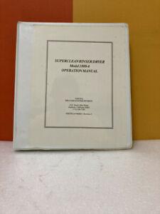 VerTeq 900083.1 Super Clean Rinser/Dryer Model 1800-6 Operation Manual