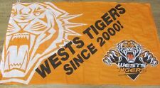 70051 Wests Tigers Large Supporter Flag 90Cm X 150Cm.