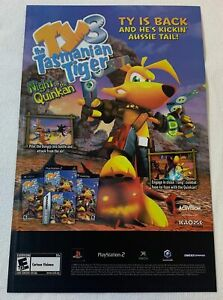 2006 video game ad page ~ TY 3 THE TASMANIAN TIGER NIGHT OF THE QUINKAN