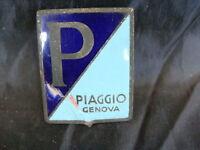 EMBLEMA SMALTATO PIAGGIO VESPA 125 BACCHETTA BADGE EMBLEMS OLD SCOOTER ITALY