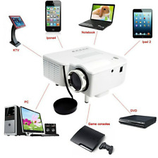 UC28 Cinema Theater Multimedia LED LCD Projector PC AV VGA USB HDMI HD1080P WH M